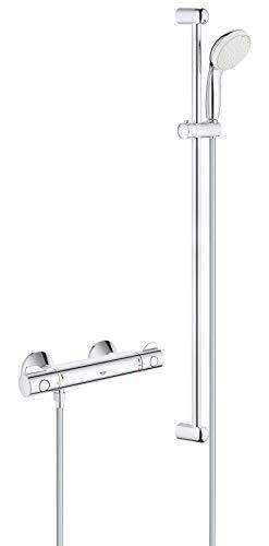 GROHE Grohtherm 800 | Brause- und Duschsystem - Thermostat -Brausebatterie,...