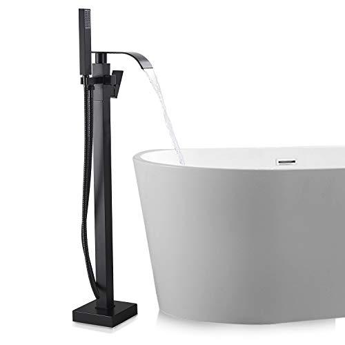 SUGU Schwarz Messing Freistehende Badewanne Wasserhahn Wanne Mischbatterie...