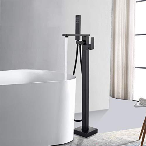 Rozin Schwarz Freistehende Armatur Badewanne Wasserhahn 360° Drehbarer...