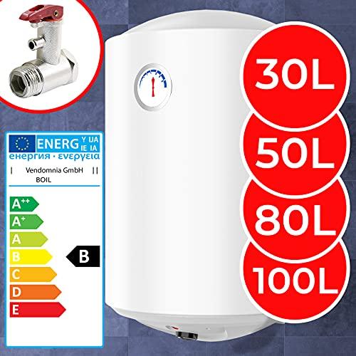 Elektro Warmwasserspeicher - Thermometer, 1500W, emailliert, 30, 50, 80,...