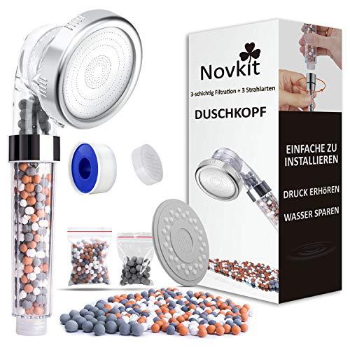 Wassersparender Handbrause Duschkopf mit Filter Mineralsteinen und 3...